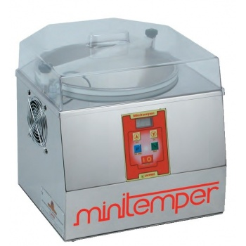 MiniTemper Chocolate Tempering Machine - Made in Italy - 3kg Chocolate Bowls Cont.