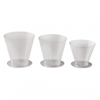 Small Disposable Verrine Glasses - 2.4 oz. -2.5'' x2.5'' x 2.125''- 100pcs