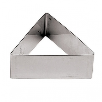 Triangle Stainless Steel Pastry Rings -  2.375 x 2.375 x 1.125 - Set of 6
