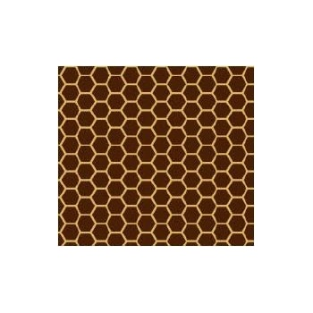Chocolate Transfer Sheets 12'' x 15.5'' - Honeycomb - Pack of 15 Sheets