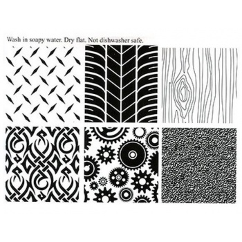 Texture Mat - Manly/Set Of 6 Styles 7''x10''