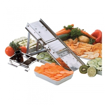 """Bron Coucke The """"Original"""" Mandoline with Stainless Steel Pusher"""