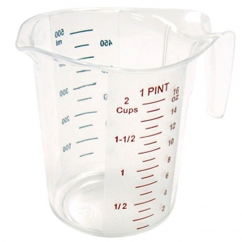 Winco Polycarbonate Measuring Cup - 1 Pint