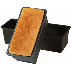 "Matfer Bourgeat Exoglass Bread Mold With Stainless Steel Lid 11 1/3""x 4""x 4 1/3"" - 1 KG - 2 lbs"