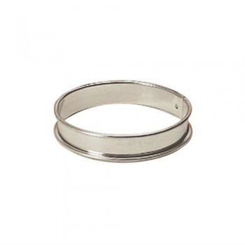 Individual Stainless Steel Round Tart Ring  - Pack of 6