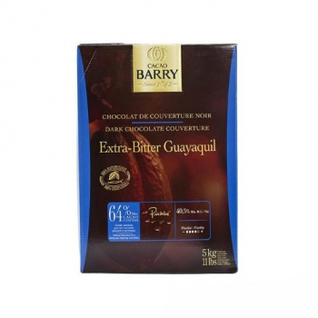 Cocoa Barry Chocolate Couverture Guayaquil 64% Cocoa 40.55% fat content - 1Lb