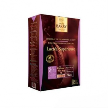 Cocoa Barry Chocolate Couverture Lactee Superieure 38.2% cocoa 38.1 fat content - 1Lb.