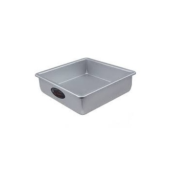 "Square cake pan solid bottom 8""x8""x2"""