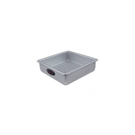 "Square cake pan solid bottom 10""x10""x2"""