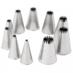 Ateco 10-Piece French Star Tube Set - Stainless Steel