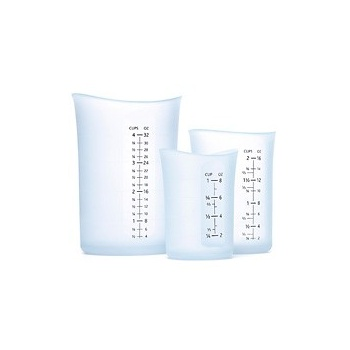 iSi Silicone Flexible Measuring Cup - Set of 3 (1 c., 2 c., 4 c.) Clear