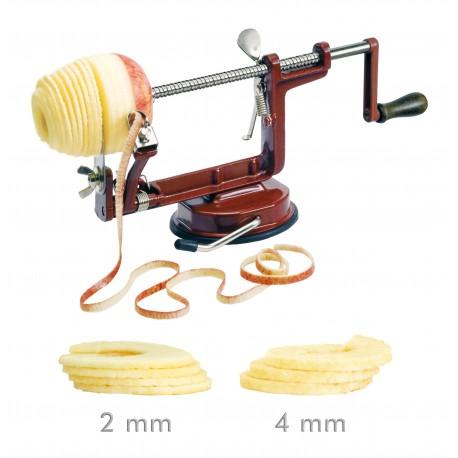 Le Tellier Apple Peeler - 2 Slice Widths - Suction Base