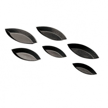 "Non-Stick Plain Boat Mold - 2 3/8"" X 3/8"" - Set of 12"