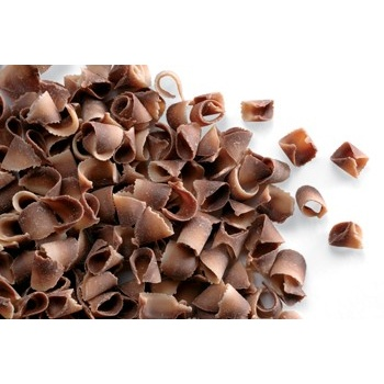 Belgian Chocolate Curls - Blossom Curls Marble- 1Lb