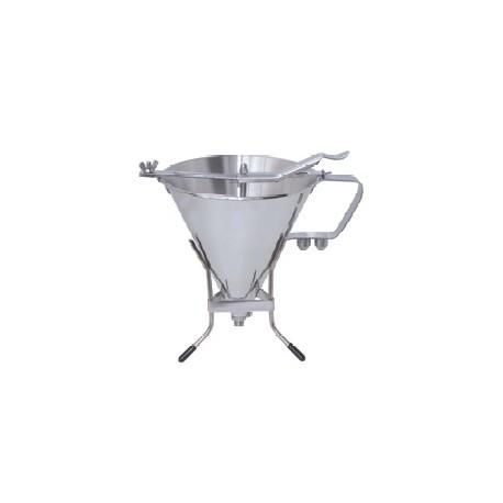 De Buyer Automatic professional Stainless Steel  piston funnel KWIK PRO - 2Qt.
