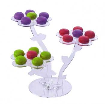 Flower Shape Macarons Display - Holds 15/18macarons - 40x35cm-h28cm