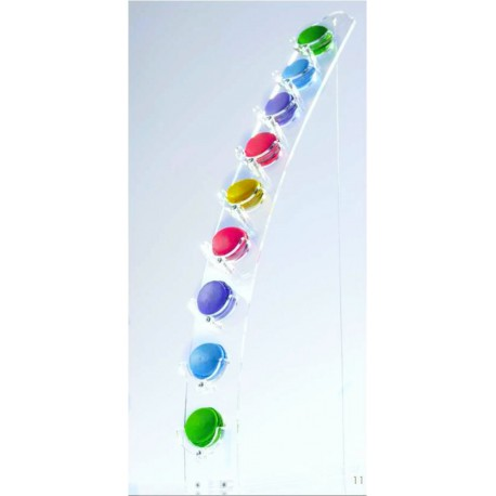 Half Moon Shape Macarons Display - Holds 9 macarons - 24''high