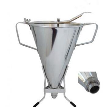 De Buyer Automatic professional Stainless Steel  piston funnel KWIK MAX 3.5Qt