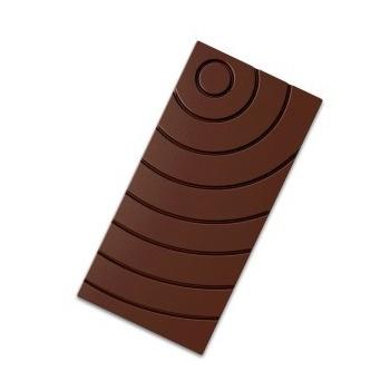 Polycarbonate Chocolate Bars Mold - Wavy - 3 Cavities -