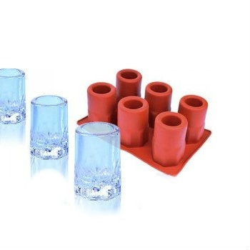 Ice-Shot Round Cup Silicone Mold - 6 Cavities