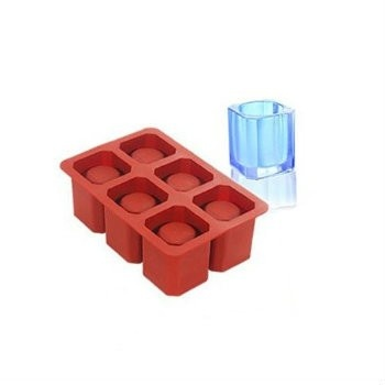 Ice-Shot Squared Silicone Mold - 6 Cavities