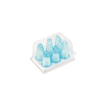 Professional Polycarbonate Pastry Tips Set - Specialty Pastry Tips - 6 pcs