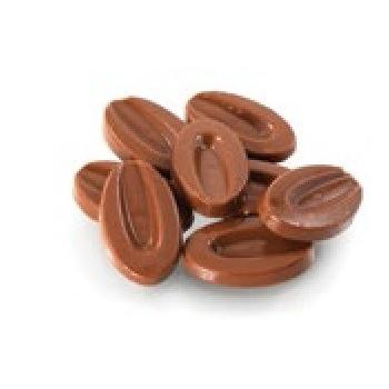 Valrhona Professional Signature Range Satilia Milk 35% cocoa 43% sugar 37% fat content 21% whole milk - 1Lb  - Feves