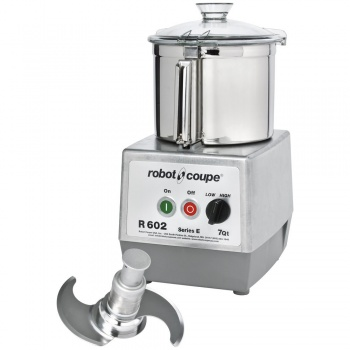 Robot Coupe R 602 B Two Speed Food Processor with 7 qt. Stainless Steel Bowl - 208/240V, 3 Phase