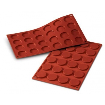 Chablon, Macarons, Mini Florentins Silicone Mat - Round Ø 25 mm - 28 Indents  - 175mm x 300mm
