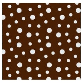 Chocolate Transfer Sheets 12'' x 15.5'' - Snow - Pack of 15 Sheets