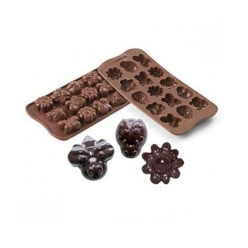 Silikomart Silicone Chocolate Mold Springlife - 36x26 h 15 mm