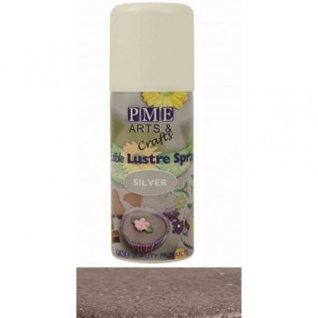 PME Edible Lustre Spray - 100ml - Silver