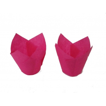 Tulip Disposable Baking Cup Medium - Fuschia - 2''x3.15'' - 200pcs