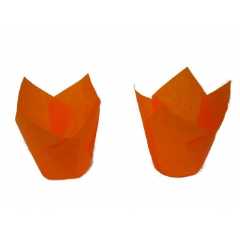 Tulip Disposable Baking Cup Medium - Orange - 2''x3.15'' - 200pcs