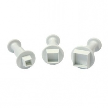 PME SQUARE Plungers Cutter 3pce Set