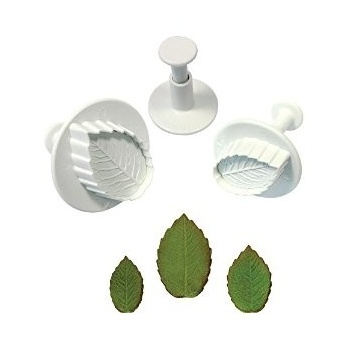 PME Rose Leaf Plungers Cutter 4pce Set