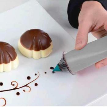 Silikomart Silicone Drawing Pen with 5 Nozzles - Silikomart Penna Decorativa