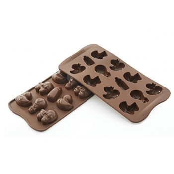 Silikomart Silicone Chocolate Molds - Choco Baby - SCG031 - 107 x 215 x h 17 mm
