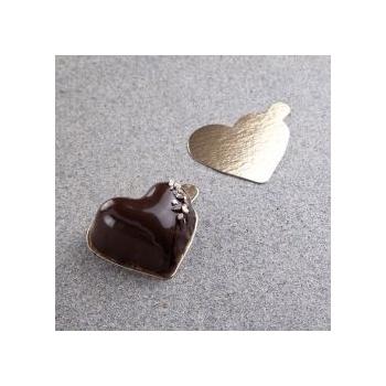 Mono Portion Boards Gold- Heart 2.5'' x 3''- 240pcs