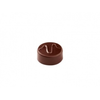 Pavoni Polycarbonate Chocolate Molds - Artisanal Round Wave 21 pralines. 10 gr ca. Mould 275x135 mm