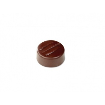 Pavoni Polycarbonate Chocolate Molds - Artisanal Round Fork 21 pralines. 10 gr ca. Mould 275x135 mm. ø 28 mm h 14 mm.