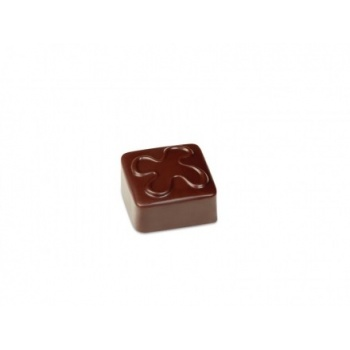 Pavoni Polycarbonate Chocolate Molds - Artisanal Square Fantasy - 21 pralines. 10 gr ca. Mould 275x135 mm. 26x26x13 h mm.