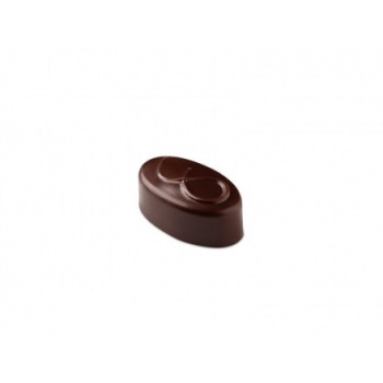 Pavoni Polycarbonate Chocolate Molds - Artisanal Oval Knob - 21 pralines. 10 gr ca. Mould 275x135 mm. 37x21x14 h mm
