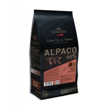 Valrhona Single Origin Grand Cru Chocolate Alpaco 66.5% cocoa 33% sugar 40.2% fat content  - 3Kg  - Feves