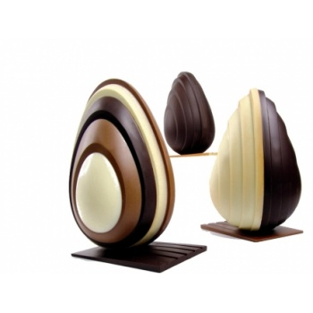 Pavoni Thermoformed Egg Chocolate Mold  - mm Ø 130 x 200 H - 2 Pieces