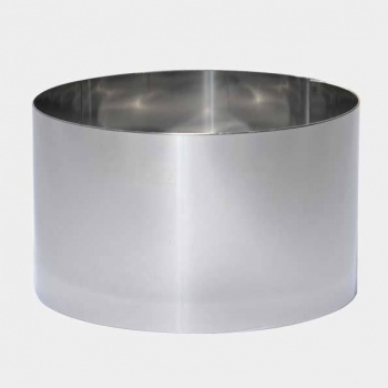 De Buyer Stainless Steel High Bread Round Ring for Pain Surprise - Ø12cm H 8cm 90cl.