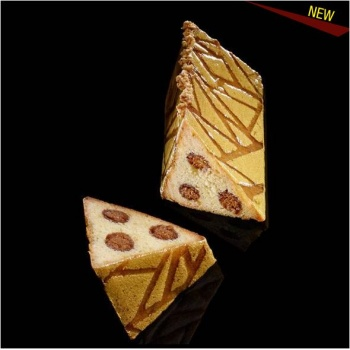 De Buyer Stainless Steel Triangular Cake Mold with lid & silicone 3D Mat Insert - CREATION C.RENOU