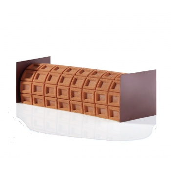 Pavoni Silicone Texture mats for Log Mold - 240x190mm - CHOCOLAT