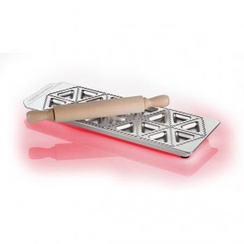 18-Imprint Tortellini Mold & Rolling Pin Set, L 6.5 x W 3 x H 0.5