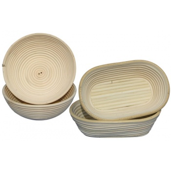 Matfer Bourgeat Banneton Willow Basket Oval 9 1/2'' x 6'' - 11oz.